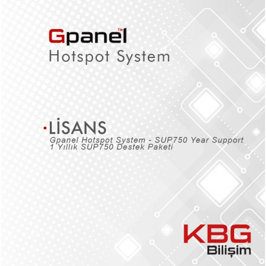 Gpanel Hotspot System - Support License - SUP750-1Yr