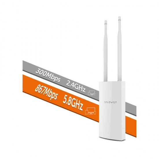 Solidway SWAP-AC-EXT 2.4 & 5 GHz 1200Mbps  802.11ac/a/b/g/n Outdoor WAVE-2 Access Point