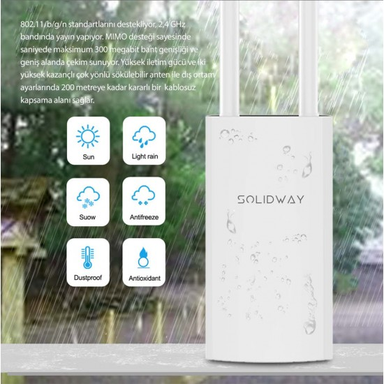 Solidway SWAP-EXT 2.4GHz 300Mbps 802.11b/g/n Outdoor Access Point