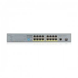 ZyXEL GS1300-18HP 16xPoE+1xSFP+1XCopper Port Unmanaged CCTV PoE Switch, (4xPort Long Range), 170W