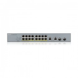 ZyXEL GS1350-18HP, 16xPoE+2x(SFP/RJ-45) Port Smart Managed CCTV PoE Switch, (16xConfigurable extended range ports), 250W